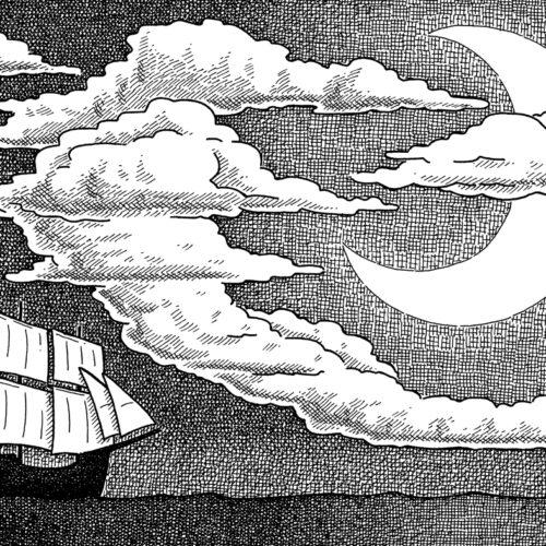 Das Schiff und der Halbmond